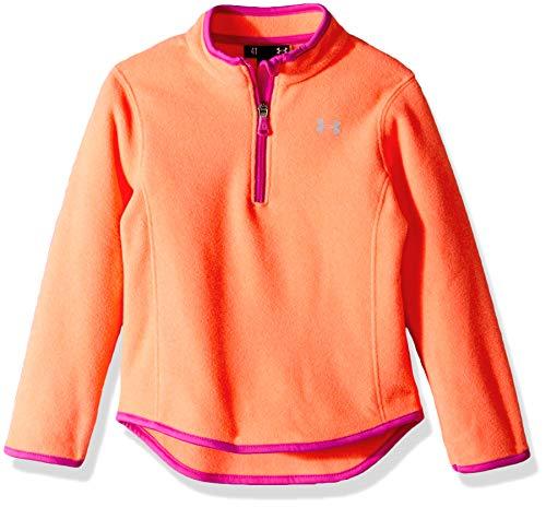- Under Armour Girls' Toddler Training 1/4 Zip Sweater, After After Burn Heat, 3T