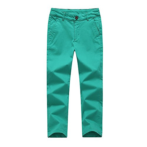 KID1234 Boys Pants - Boys Chino Pants,Adjustable Waist Pants Boys 4-12 Years,6 Colors to Choose,Best Family Dinner ()