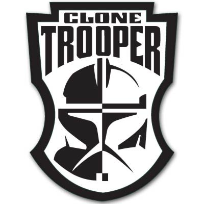 Star Wars Clone Trooper badge Vynil Car Sticker Decal - Select Size