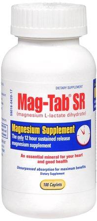 Mag-Tab SR magnesium supplement 84 mg (7 Meq) caplets - 100 Ea by Mag-Tab SR
