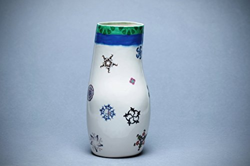 Ceramic Handmade Vases, Decorative Vase, Collage with Decals, Abstract Symbols, Illustrated Home Décor, 10–inch height by NOARAZER-CERAMIC (Image #2)
