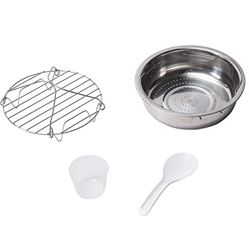 GoWISE 8-Quarts Electric + Pressure Cooker Book Measuring Cup, Rack and Spoon