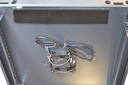 9U Server Rack Cabinet Enclosure. ACCESORIES FREE! Vented Shelf, Cooling Fan, Power Strip. Wall Mount 24'' Deep Fully Loaded Lockable Enclosure Box … by SYSRACKS (Image #6)