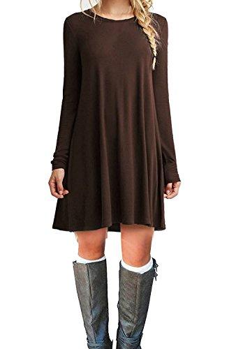 tinyhi-womens-casual-plain-long-sleeve-simple-tshirt-loose-dress