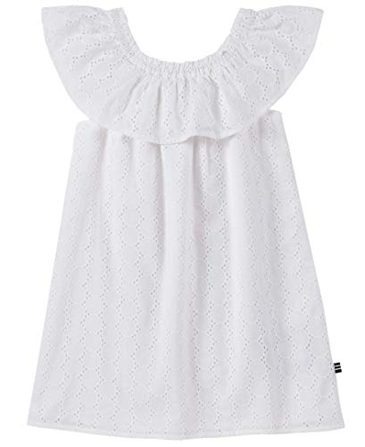 Nautica Little Girls' Patterned Sleeveless Dress, Eyelet White, -
