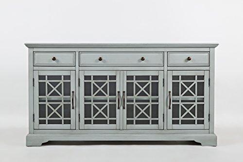 Jofran 375-60, Craftsman, 60 Media Unit, 60 W X 19 D X 32 H, Earl Grey Finish, Set of 1