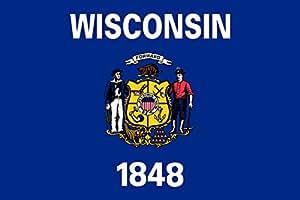magFlags Bandera XL+ Wisconsin | bandera paisaje | 2.4m² | 120x200cm