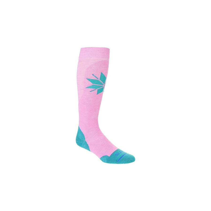 FITS Medium Ski Over the Calf Socks, Cashmere Rose/Biscay Bay, M