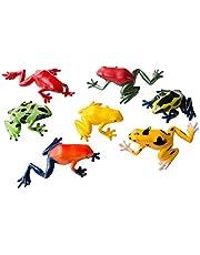 Miniblings Conjunto de 6 Frog Mimosa Figura Animal Gummitier Ranas Anfibios