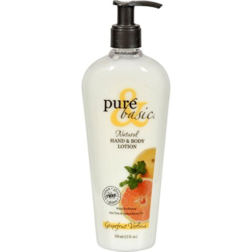 Pure and Basic Natural Bath And Body Lotion Grapefruit Verbena - 12 fl oz - Basic Grapefruit Verbena Natural
