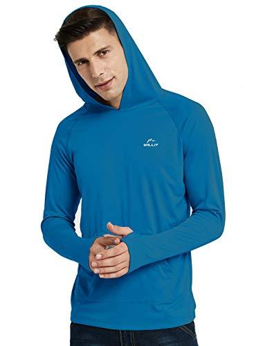 Willit Men's UPF 50+ Sun Protection Hoodie Shirt Long Sleeve SPF Fishing Outdoor UV Shirt Hiking Lightweight