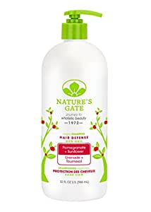 Nature's Gate Pomegranate + Sunflower Hair Defense Shampoo, 32 Fluid Ounce