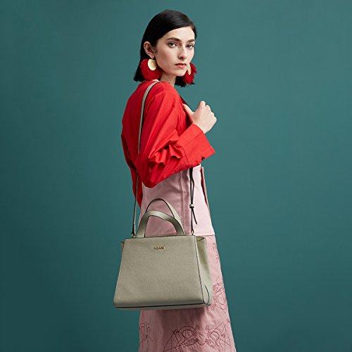 Femmes Designer les Sacs Purse pour Dames Épaule Top Kadell Cuir PU blanc Gris Femmes Main Poignée Luxe En À Green De Light dB0WW8paq