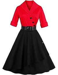 Babyonline Retro Vintage Women Dresses 1950s Rockabilly Audrey Hepburn Gown
