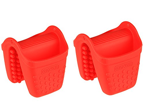 - Dexas Micromitt Silicone Oven Mitt, Set of Two, Red