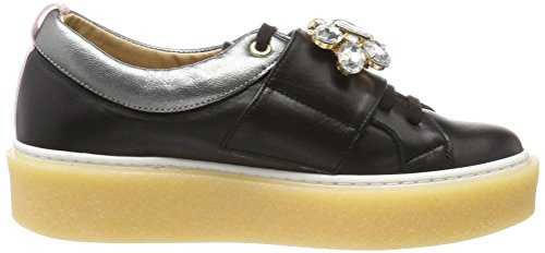KMB Black Noir Basses Gensy Femme Sneakers wWBRw6pqaF