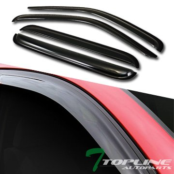 Topline Autopart Smoke Window Visors Deflector Vent Shade Guard 4 Pieces For 02-07 Jeep Liberty