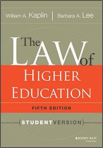 Bücher Audio-Download kostenlos The Law of Higher Education, 5th Edition: Student Version 111803662X PDF iBook PDB by Barbara A. Lee