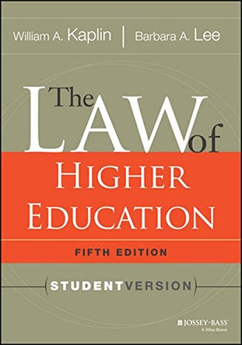 The Law of Higher Education, 5th Edition: Student Version PDF