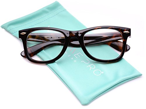 Square Horn Rimmed Nerd Clear Lens Retro Glasses - Optical - Glasses Mens Optical
