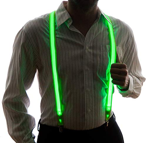 Neon Nightlife Men's Light Up LED Suspenders, One