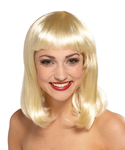 Blonde Peggy Sue Adult Wig - UHC Adult Womens Peggy Sue Page Boy Style Wig Halloween Costume Accessory (Blonde)