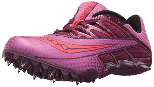 Saucony Women's Spitfire 4 Track and Field Shoe, Purple/Pink, 8 Medium US