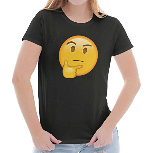 Curious Thinking Chin Emoji Graphic Novelty Ladies T