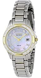 Citizen Eco-Drive Diamond Two Tone Ladie's Watch EW2134-50A