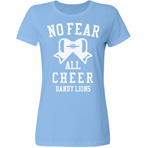 No Fear Cheer Girl Dandy Lions:Misses Relaxed Fit Fruit of the Loom Tee