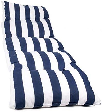 Dabuty Online, S.L. Colchón Tumbona Acolchada Classic 180x55X5cm Texturas (Rayas Azul)