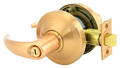 Schlage commercial AL40OME612 AL Series Grade 2 Cylindrical Lock, Privacy Function, Omega Lever Design, Satin Bronze Finish by Schlage Lock Company
