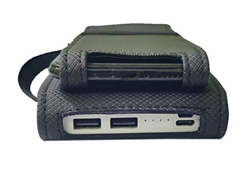 aCrafts Shock Proof Pouch Case Wallet Cover Protector for Mi 20000mAH Li-Polymer Power Bank 2i Model PB20IZM - Black