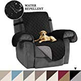 """Reversible Recliner Cover, Recliner Chair Slipcover, Pet Cover for Recliner Furniture Protector, 2"""""""