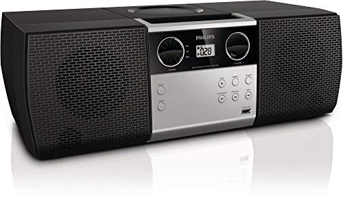 Philips MCM1006 Micro Portable Hi-Fi System, CD Player, MP3 Speaker, USB Input and FM Radio