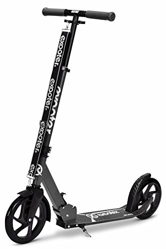 EXOOTER M1475CH 5XL Teen Cruiser Kick Scooter With 200mm Big Wheels In Charcoal.