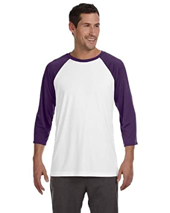 Alo Sport Men's Baseball T-Shirt - WHITE/SP PURPLE - XS