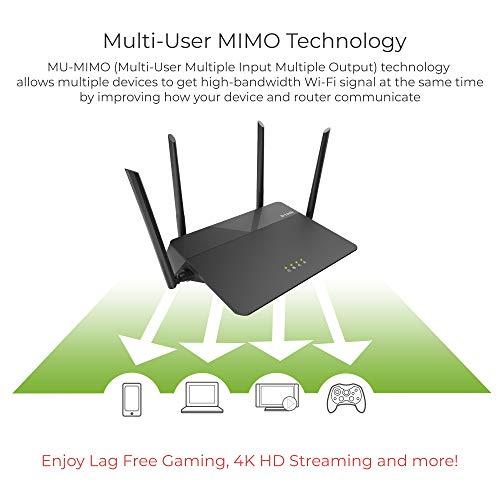 D-Link AC1900 Wireless WiFi Router – Smart Dual Band – MU