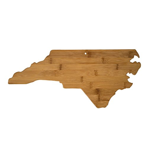 """Cutting & Serving Board – """"NORTH CAROLINA"""", 100% Organic Bamboo Cutting Board, Extremely Strong and Durable Perfect for Cooking, Entertaining, Décor and Gift Set. Designed in USA (Resource Wood Cutting Board)"""