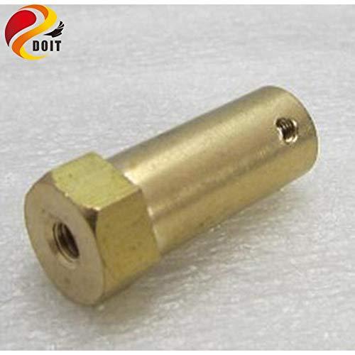 HATCHMATIC 2pcs de Acople Hexagonal/Acoplamiento/Hexágono Conector de cobre Producto / Length30mm 6 mm, 5 mm, 4 mm, 3...