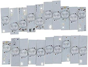 BKAUK - 20 cuentas de lámpara SMD de 3 V con filtro óptico para reparación de televisores LED, tira de luz LED: Amazon.es: Iluminación