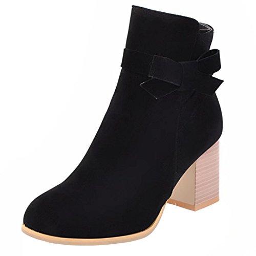 AIYOUMEI Women's Classic Boot Black qo8R5WSD