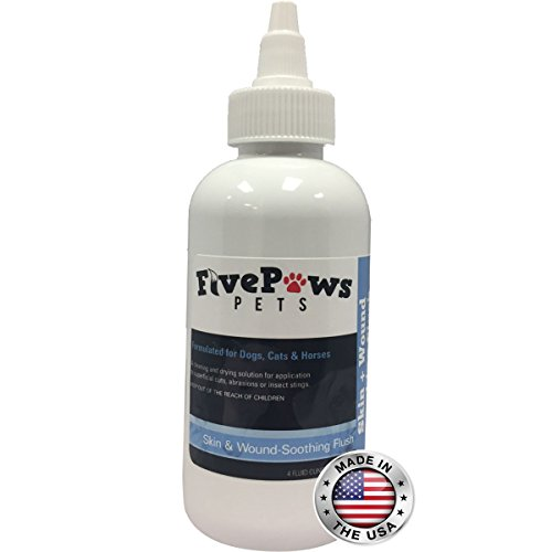 Chlorhexidine & Ketoconazole Antiseptic & Antifungal Skin & Wound Wash Flush ~ Treatment for Hot Spots, Abrasions, Cuts, Scratches ~ For Dogs Cats and Horses ~ 4 oz. (Chlorhexidine Flush)