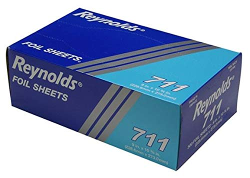 Reynolds Wrap 711 Pop-Up Interfolded Aluminum Foil Sheets, 9 x 10 3/4, Silver, 6 Packs of 500 (Case of 3000 Sheets) ()