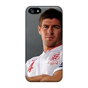 Ultra Slim Fit Hard Rewens Case Cover Specially Made For Iphone 5/5s- The Player Of Liverpool Steven Gerrard Under The Sky