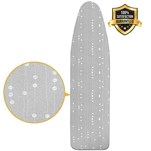 - HOMILA Ironing Board Cover Silicone Coated Resists Scorching and Staining Ironing Board Padding 15