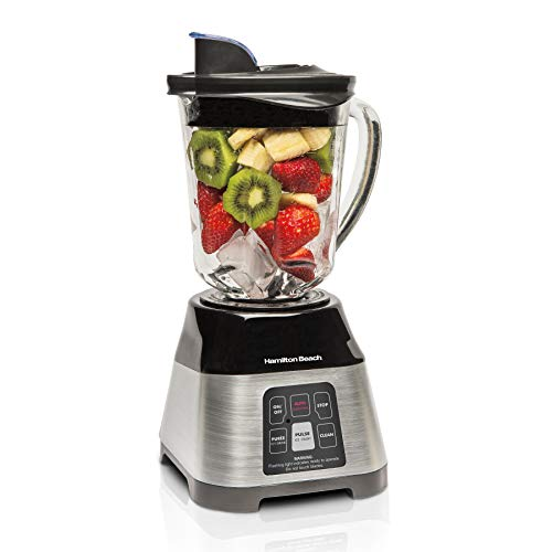 Hamilton Beach Smoothie Smart Blender with 5 Functions including One-Touch AutoSmoothie, 40 oz Glass Jar, Stainless…