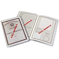 5 Fundas protectora en plastico para Carta Cedula de Identidad Italiana