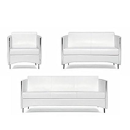 Muebles de oficina Sofa Sidney en blanco: Amazon.es: Oficina ...