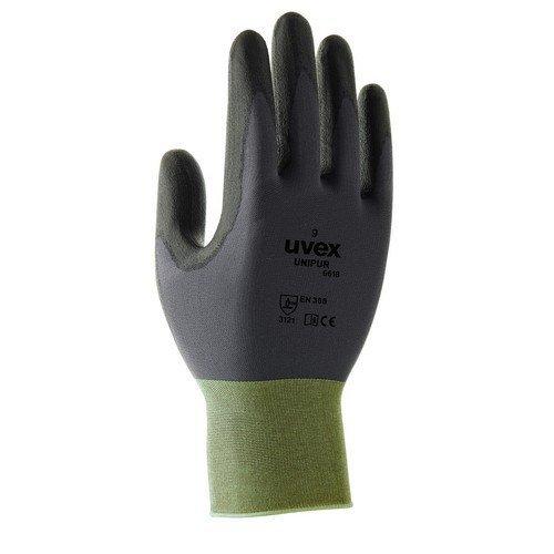 20 Pairs Uvex Unipur Hi-Dexterity Handling Work Gloves Coated Palms- Ultra-Light (8/M) 6058608